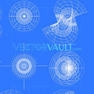 Buy Vector 3D Wireframe Distortion shapes